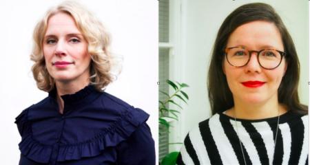 Kuvassa Pauliina Gauffin ja Anu Heinonen