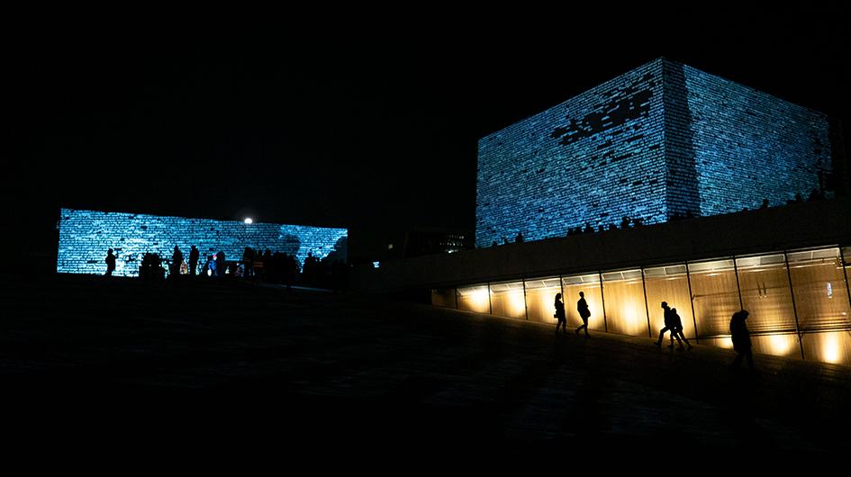Kuva Oslon oopperatalosta