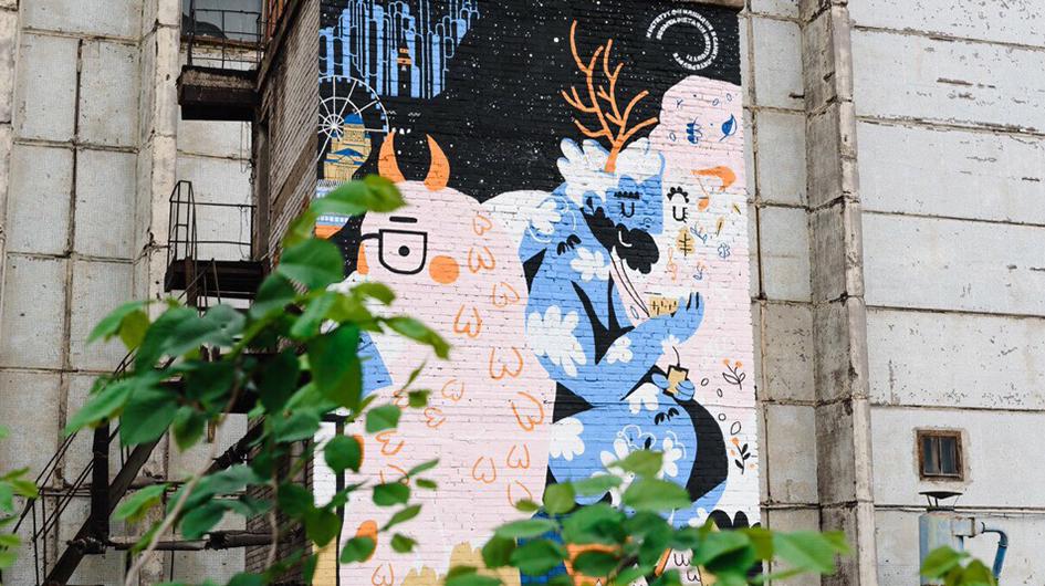 Muraali Pietarissa